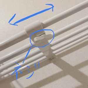 ニトリのポールスライド棚の取り付け方②