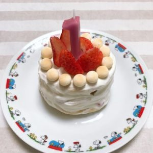 水切りヨーグルトケーキの完成写真