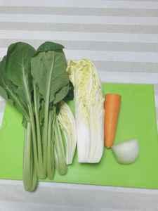 圧力鍋で野菜類の離乳食を作る