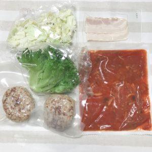 濃厚トマトソースのうま味ハンバーグ、ベーコンとキャベツのバター醤油のレビュー2